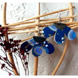 Créoles Marguerites bleues