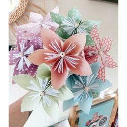 Fleurs origami à l'unité